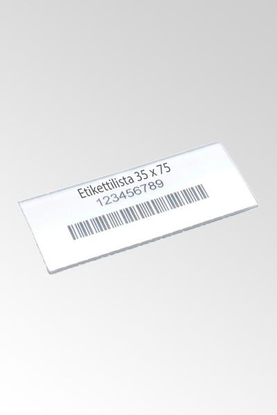 Etikettipidike + etiketti 30 x 135 (100kpl/pss)